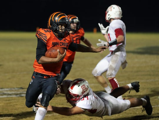 Anthony Teague during a game last year vs. Anderson County.
