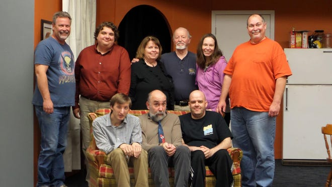 The cast of The Boys Next Door includes:L to R (front row): Chuck Goddeeris, Royal Oak; Eric Goldstein, Southfield; Chris Polhill, Harrison Township; Back row: Jim Bryan, Sterling Heights; Daniel, Croft Redford; Barb Mathers, Walled Lake; Stan Evans, Bloomfield Hills; Sarah Galloway, Redford and Dave Durham, Garden City.