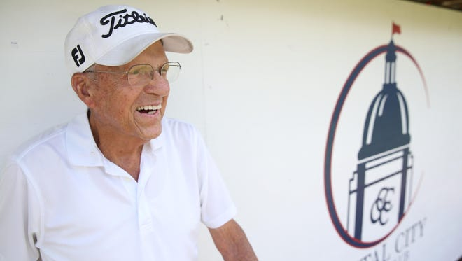Dr. Bert Fletcher, 98, has been a member at Capital City Country Club for 68 years and stills plays two 18-hole rounds of golf a week on the south-side course.
