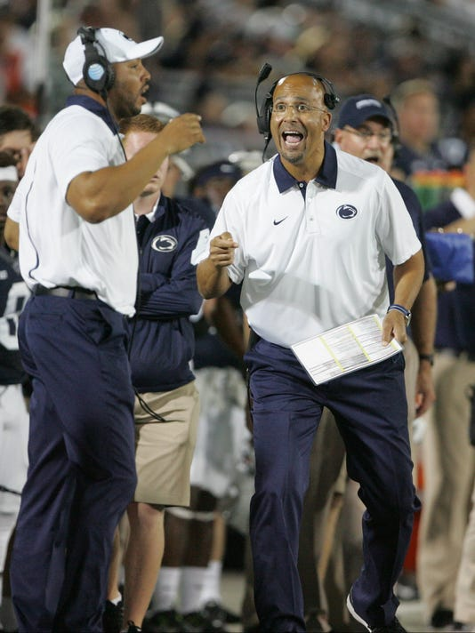 Penn State's James Franklin believes his team's offense will become more balanced as the season progresses.