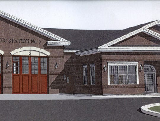 A rendering shows the previously planned paramedic station in southern New Castle County. On Monday, the Meyer administration said it is scrapping plans for a new station and will instead renovate an existing county facility.
