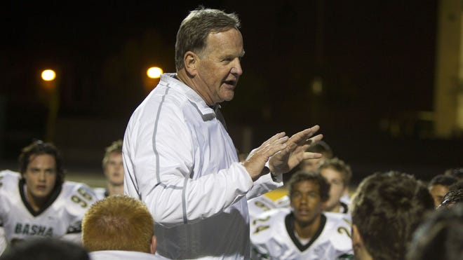 Basha head coach Bernie Busken is leaving the school at the end of the spring semester to take time for  himself.