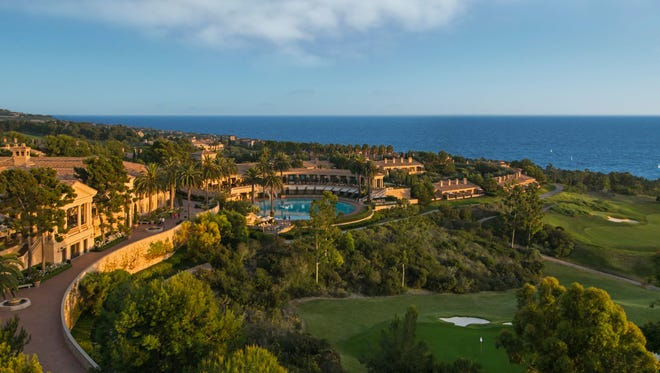 Panoramic view of Pelican Hill.
