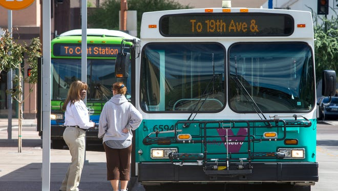 A strike after contract disputes could affect 14 bus lines in Phoenix. Talks between the union and the operating company start Monday.