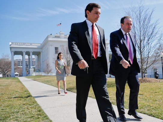 Ford Motors CEO Mark Fields, left, and Ford Motors