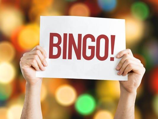 Bingo! placard with bokeh background