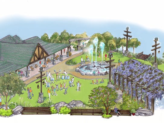 Rendering of Plaza at Wilderness Pass