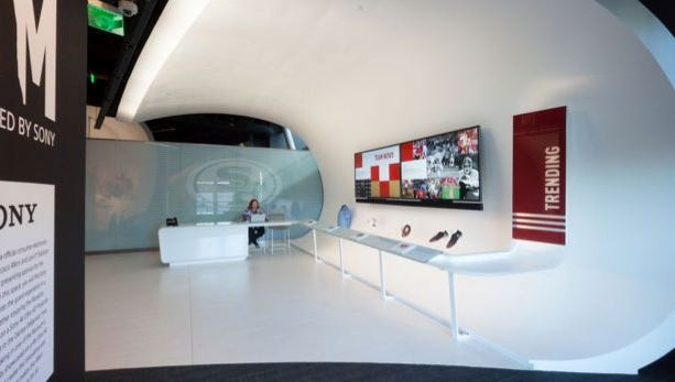 The Corian used in the 49ers museum at Levi's Stadium