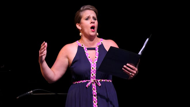 Soprano Emily Albrink will performer at in the Courier Journal office along with mezzo soprano Elizabeth Batton on Wednesday.