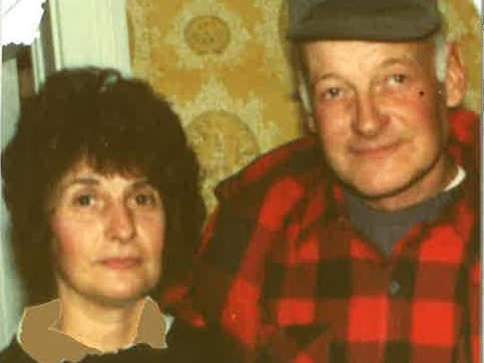 Hank Runge, right, with his sister, Eleanor Moore.