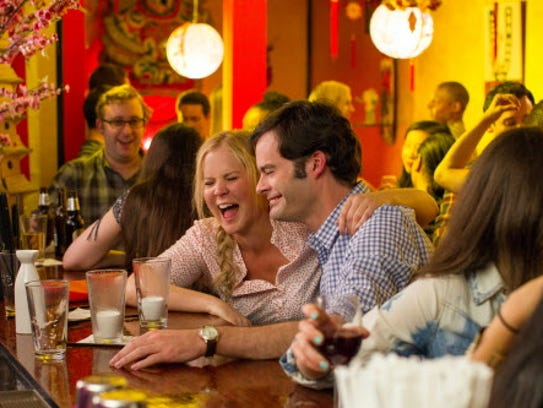 "Amy Schumer and Bill Hader in ""Trainwreck."""