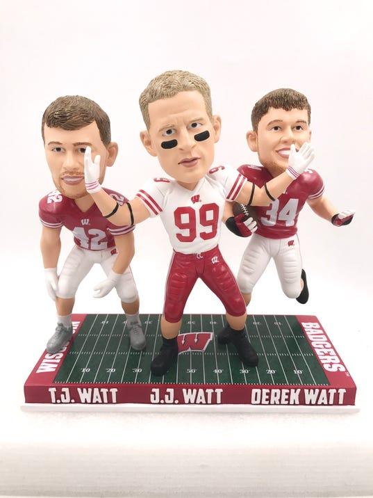636438415450564210-Watt-Brothers-J.J.-T.J.-and-Derek-Wisconsin-Badgers-Triple-Bobblehead.jpg