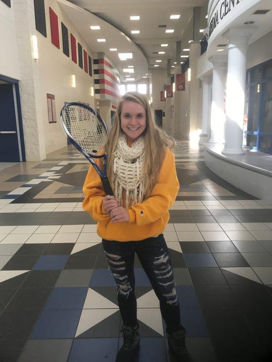 Maggie Pitts Marion Harding girls tennis