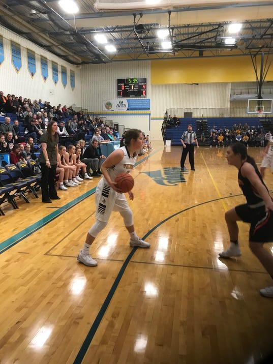 River Valley girls basketball player Alexis Stevens