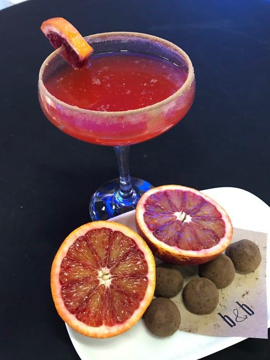 Chocolate blood orange cocktail