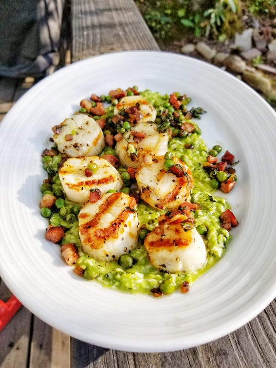 BMN 05178 Scallops and peas