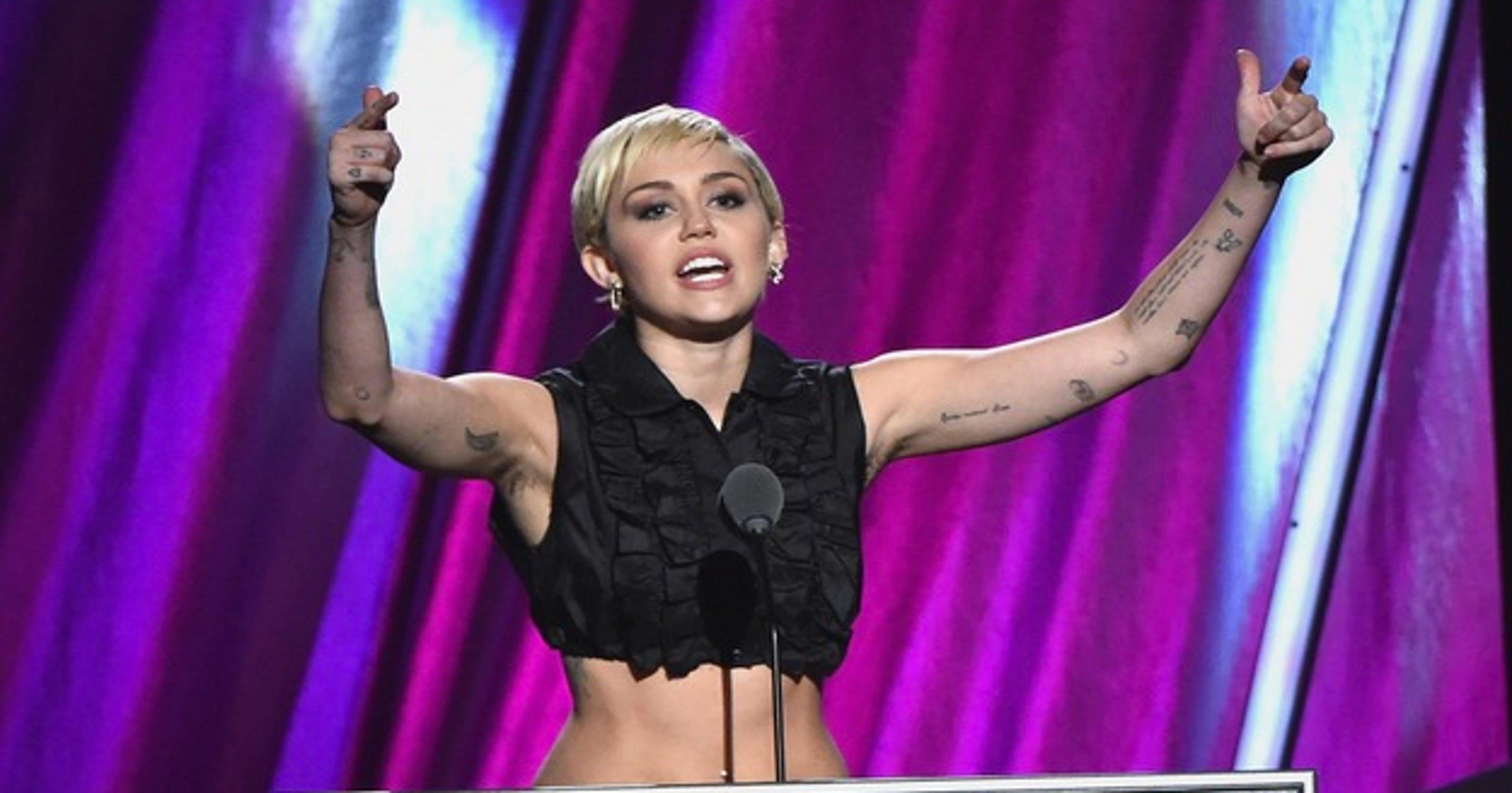Miley Cyrus Long Armpit Hair Raises Eyebrows