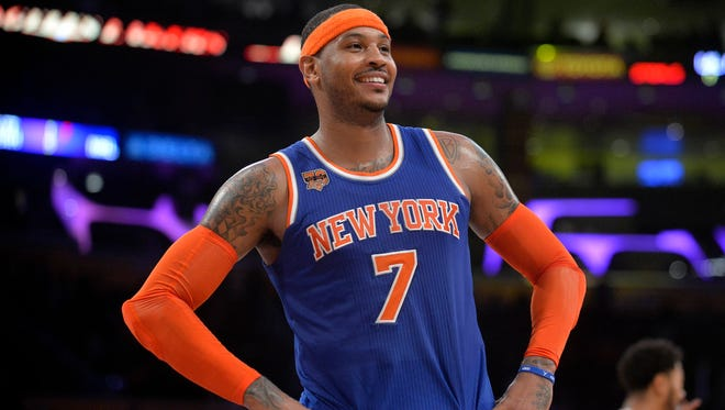 Carmelo Anthony is in his seventh season with the Knicks.