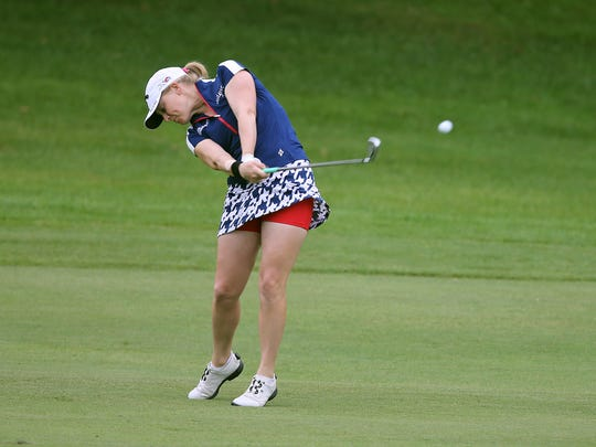 "Madison Pressel, shown here at Brook-Lea Country Club in 2015, says the new rules for dress code on the LPGA Tour are fine with her. ""There's a fine line between looking professional and not looking professional,"" she said."
