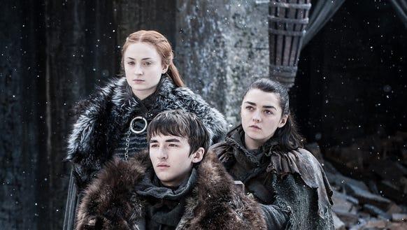 Sansa, Arya and Bran
