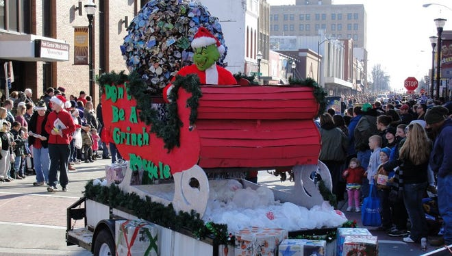 """This year's theme is """"Golden Christmas Memories"""" because it's the Downtown Springfield Association's (DSA) 50th anniversary and the association organizes the parade"""