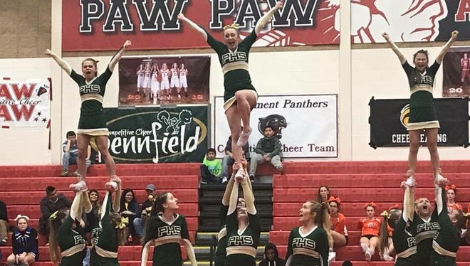 Pennfield competes at the Division 3 regional hosted by Paw Paw on Feb. 17, 2018.