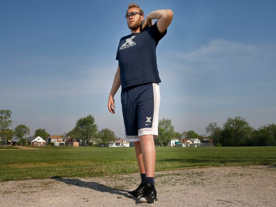 The Xavier senior - known for his skills as a basketball