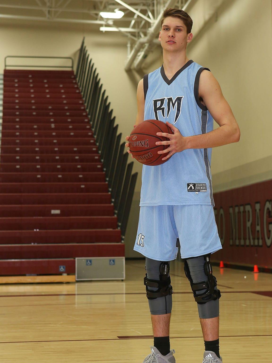 Rancho Mirage High School basketball player Bryan Talley