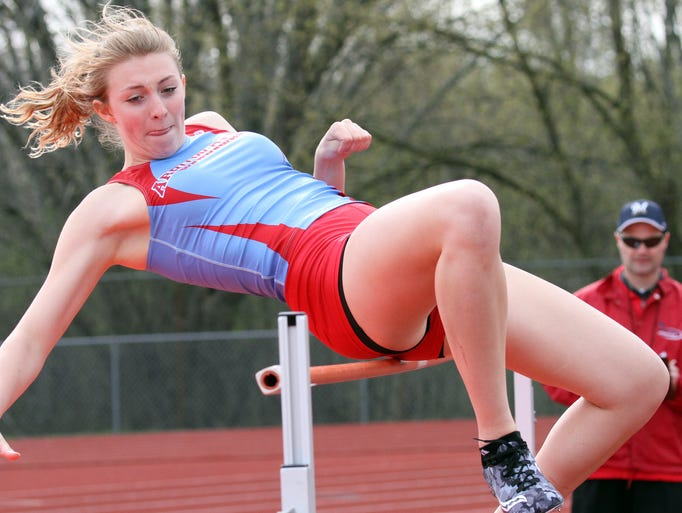 Arrowhead's Karli Graham competes in the high jump