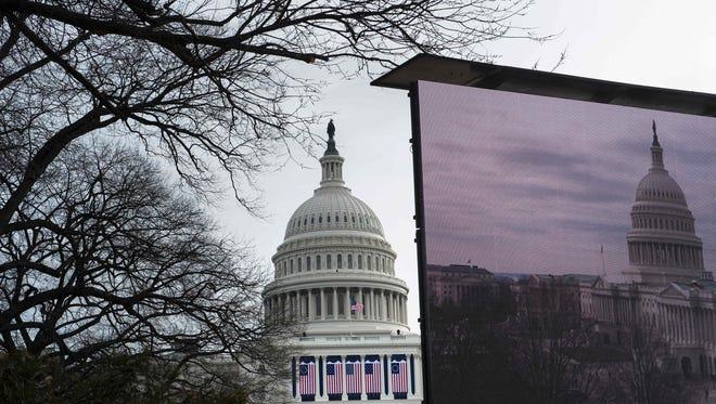 The U.S. Capitol on Jan. 19, 2017.