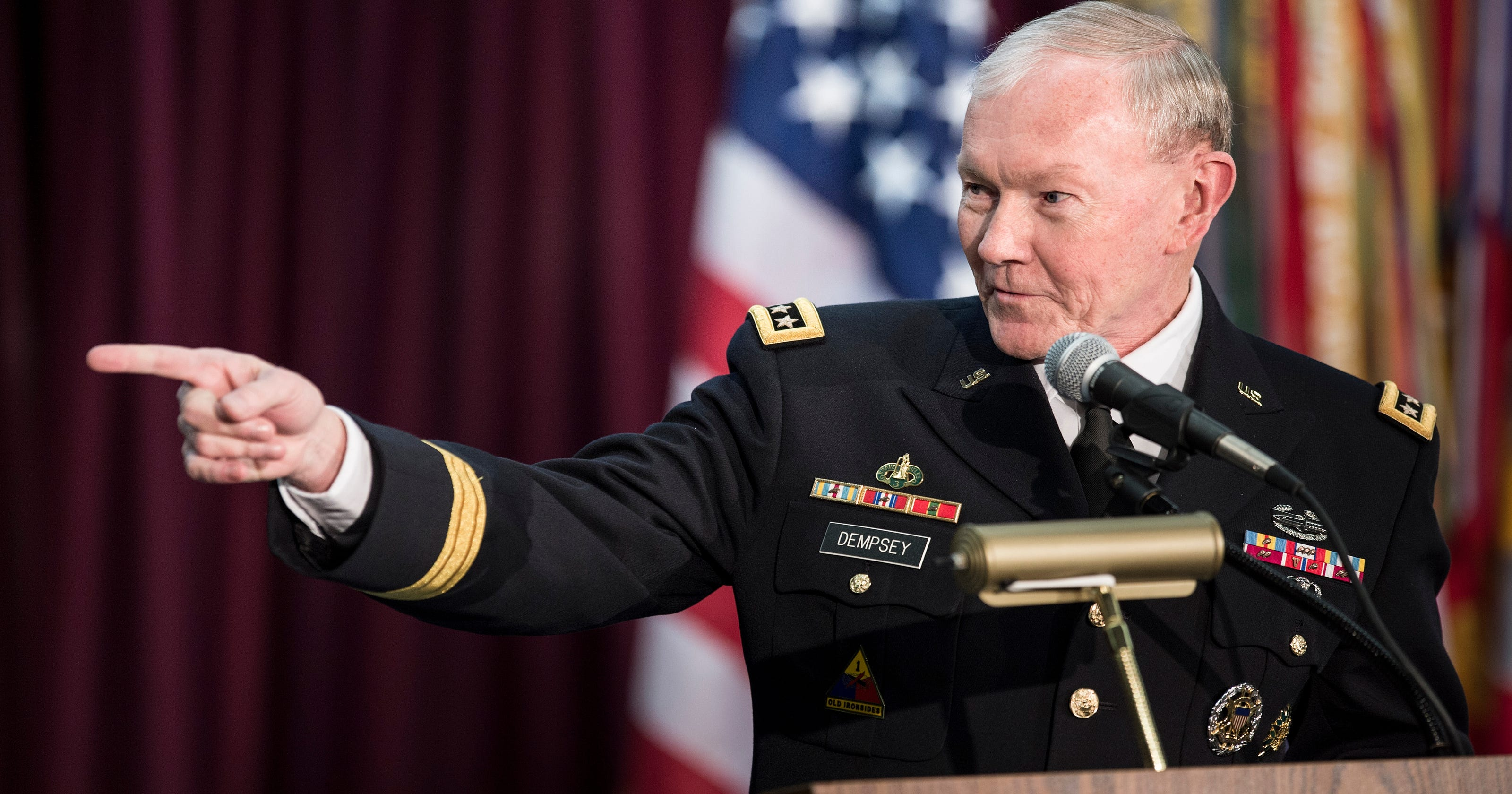 Army Brass Led By Future Joint Chiefs Head Martin Dempsey