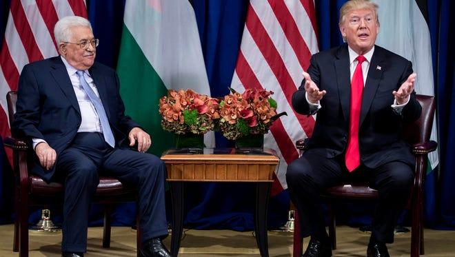 President Trump and  Palestinian Authority President Mahmoud Abbas.