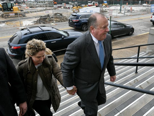 Mark Hazelwood leaving the Joel W. Solomon Federal Courthouse in Chattanooga Wednesday, Feb. 14, 2018 where the former Pilot Flying J employee was on trial for fraud.