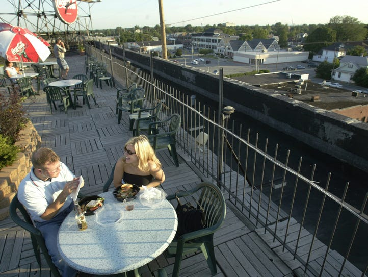 Grant Detrick and Marjie Biel enjoy Rooftop Garden