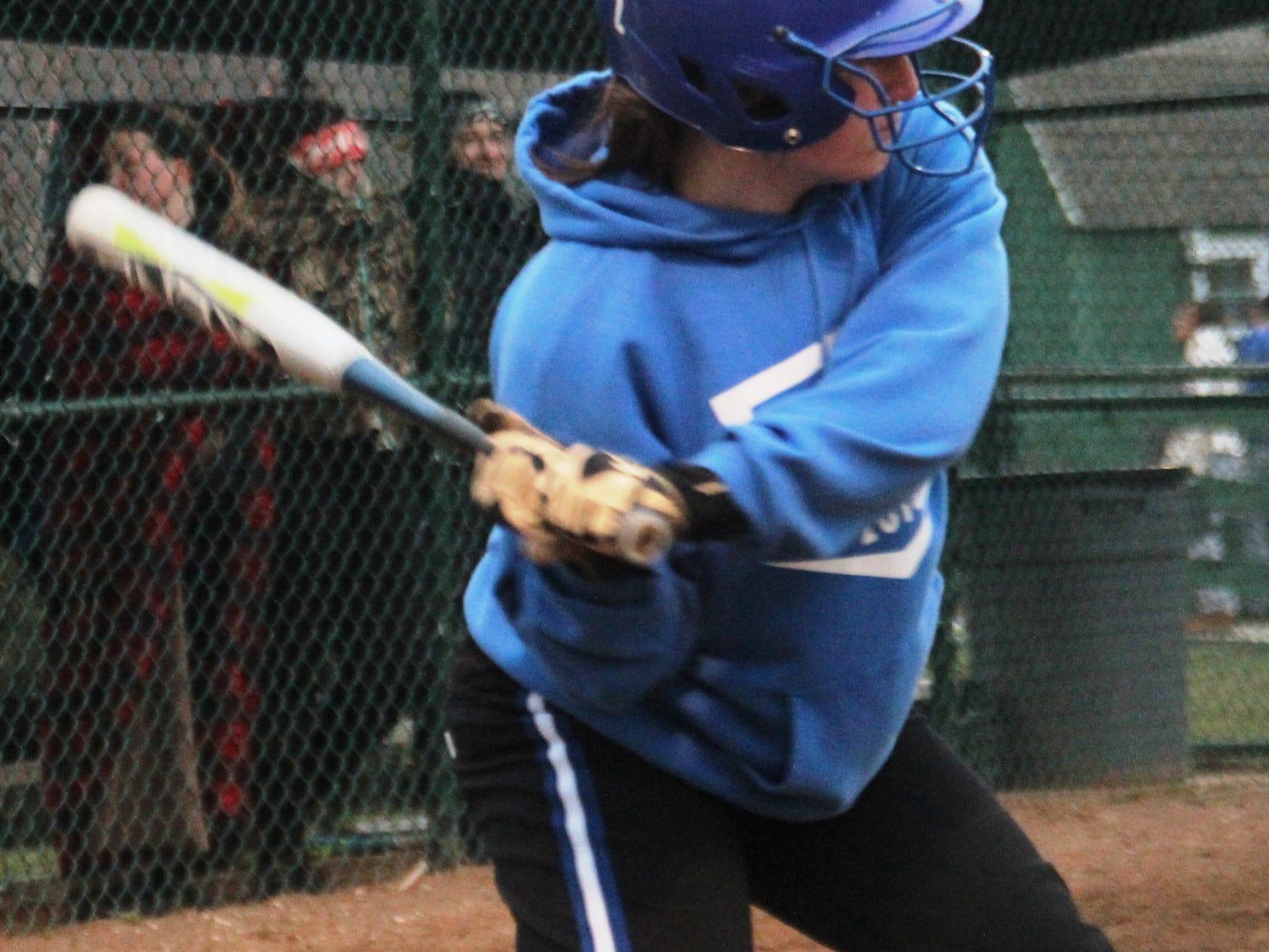 Senior Samantha Perkins is a veteran presence on a Simon Kenton softball team that has three sixth-graders and two eighth-graders.
