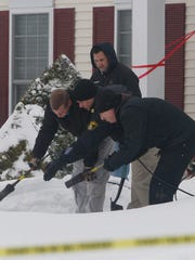 Deputies were looking through the snow for evidence