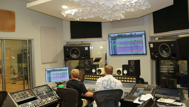 The new state-of-the-art recording studio at Vol state is just one of several venues for workshops at High School Music Day.