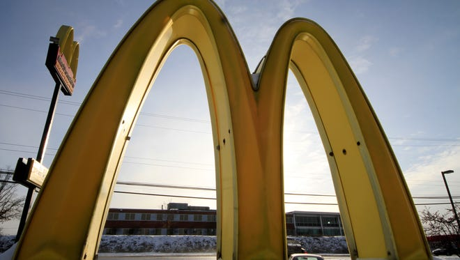 File photo taken in 2014 shows McDonald's golden arches outside the fast food giant's eatery in Robinson Township, Pa.