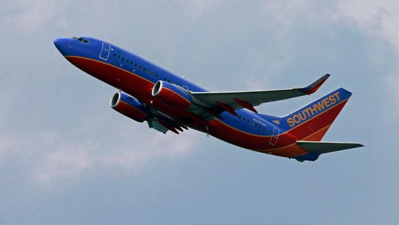 This file photo from July 23, 2013, shows a Southwest