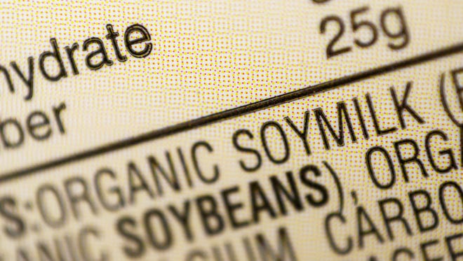 Soybeans are listed among the ingredients for soy milk at a grocery store. The U.S. Food and Drug Administration announced it wants to remove a health claim about the heart benefits of soy from cartons of soy milk, tofu and other foods, saying the latest scientific evidence no longer shows a clear connection.