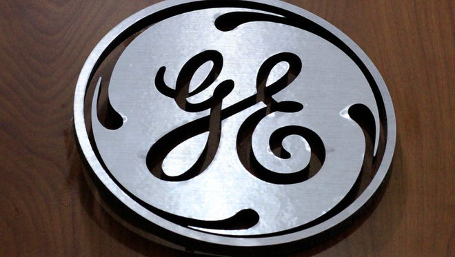 File photo taken in 2014 shows a General Electric (GE) logo displayed at a store in Cranberry Township, Pa.