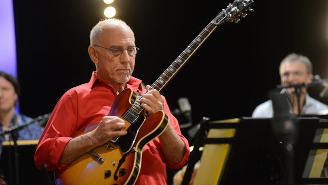 Larry Carlton, whose credits include albums by Steely Dan and Joni Mitchell, will appear at the Mayo PAC on Thursday, April 26.  He will share the stage with a friend and like-minded jazz-influenced guitarist, John Pizzarelli.