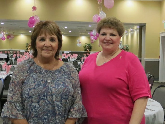 Jacque Jabs/Special to the Record Searchlight Gloria Spinks (left) and Robyn Ellis, both of Redding, attend the 19th annual Breast Cancer Awareness Luncheon on Oct. 7 at the Holiday Inn in Redding.