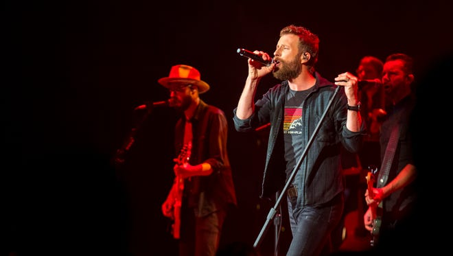 """Dierks Bentley performs during his record release show for his album """"The Mountain"""" at the Ryman Auditorium in Nashville, Tenn. on Thursday, June 7, 2018."""