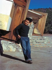 Pedro E. Guerrero, age 22, at Taliesin West, architect