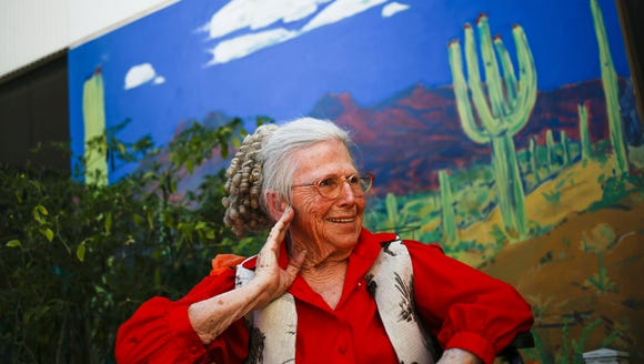 Jeanne Tirpak poses for a portrait on Tuesday, April