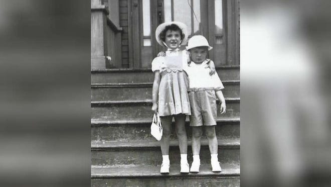 Vivian Varney and her younger brother, Carleton, are dressed in their Easter best.