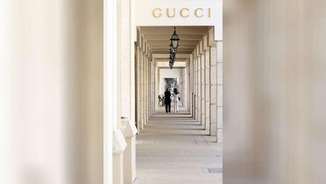 Gucci is located on Worth Avenue.