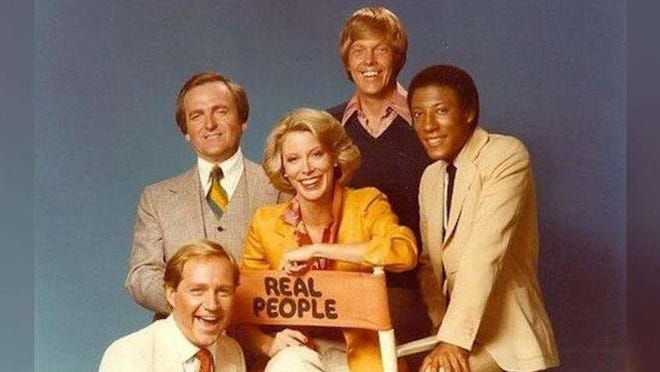 "In 1982, West Palm Beach groups threw a Sarah Purcell look-alike contest. Purcell, at center, was one of the hosts of the TV show ""Real People."""