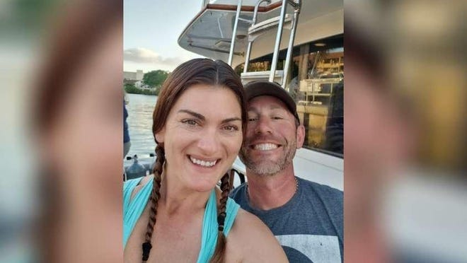 This photograph of Mollie Ghiz-Flynn, and her husband Sean Flynn, was taken as the Southern Comfort headed out for a diving excursion on March 29, 2020. Hours later, Ghiz-Flynn died in a boating accident.